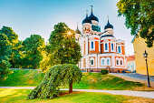 Alexander Nevsky Cathedral, An Orthodox Cathedral Church In The Tallinn Old Town, Estonia. Summer Time
