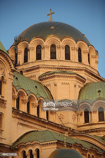 Alexander Nevsky Cathedral stands December 5 2013 in Sofia Bulgaria Sofia is becoming an increasingly popular tourit destination
