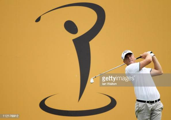 Alexander Noren of Sweden in action during the first round of the Maybank Malaysian Open at Kuala Lumpur Golf Country Club on April 14 2011 in Kuala...