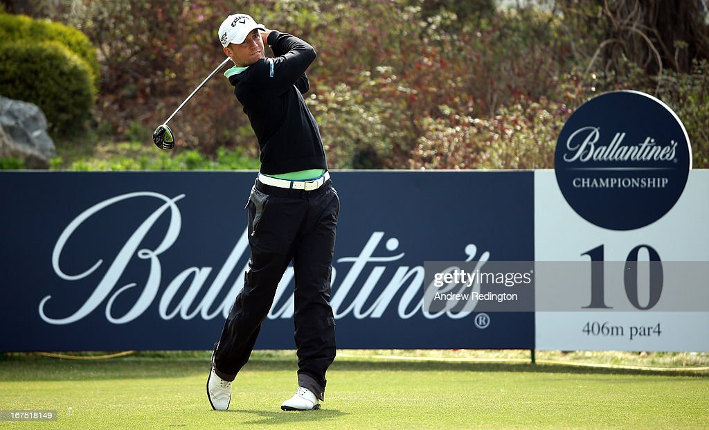 Alexander Noren of Sweden in action during the second round of the Ballantine's Championship at Blackstone Golf Club on April 26, 2013 in Icheon, South Korea.