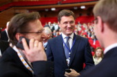 Alexander Novak Russia's energy minister center speaks to attendees during the 21st World Petroleum Congress in Moscow Russia on Monday June 16 2014...
