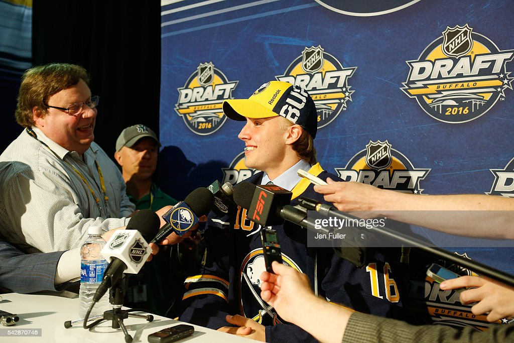 <a gi-track='captionPersonalityLinkClicked' href=/galleries/search?phrase=Alexander+Nylander&family=editorial&specificpeople=13713600 ng-click='$event.stopPropagation()'>Alexander Nylander</a> gives an inteview after being selected eighth overall by the Buffalo Sabres during round one of the 2016 NHL Draft on June 24, 2016 in Buffalo, New York.