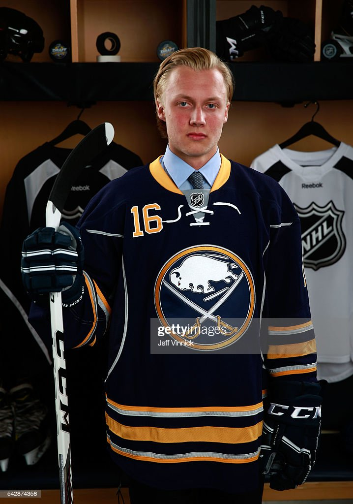 Alexander Nylander, selected eighth overall by the Buffalo Sabres, poses for a portrait during round one of the 2016 NHL Draft at First Niagara Center on June 24, 2016 in Buffalo, New York.