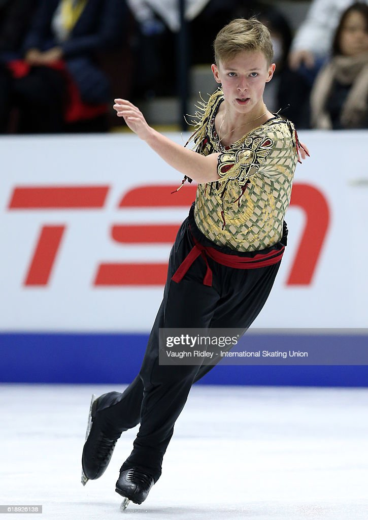 Alexander Petrov of Russia competes in the Men Short Program during the ISU Grand Prix of Figure Skating Skate Canada International at Hershey Centre on October 28, 2016 in Mississauga, Canada.