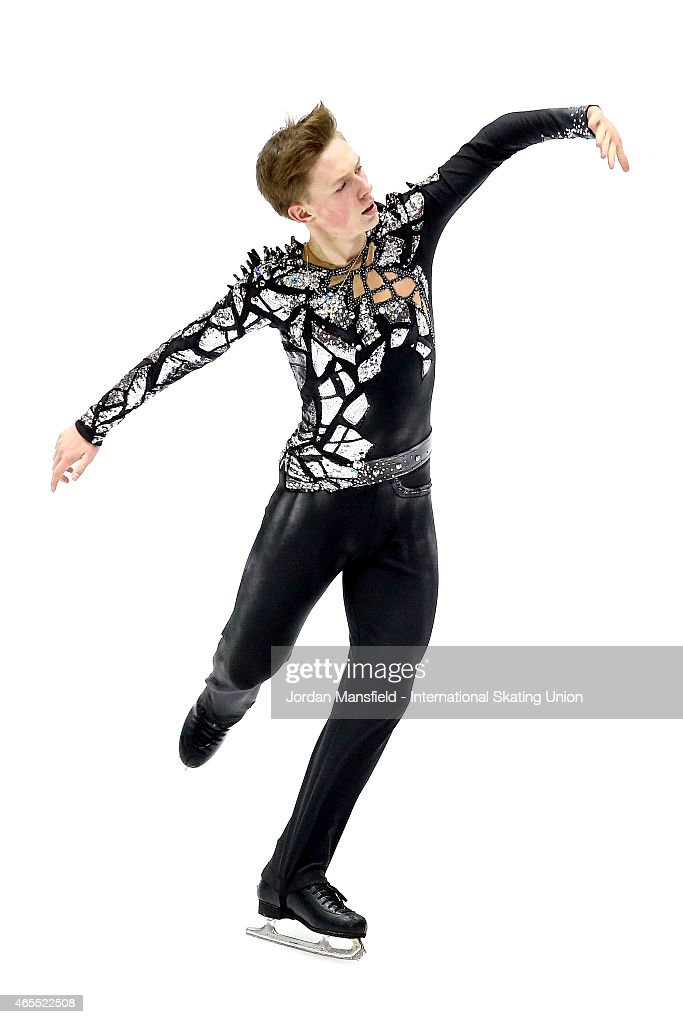 Alexander Petrov of Russia performs in the Men's Free Skating on Day 4 of the ISU World Junior Figure Skating Championships at Tondiraba Ice Arena on March 7, 2015 in Tallinn, Estonia.