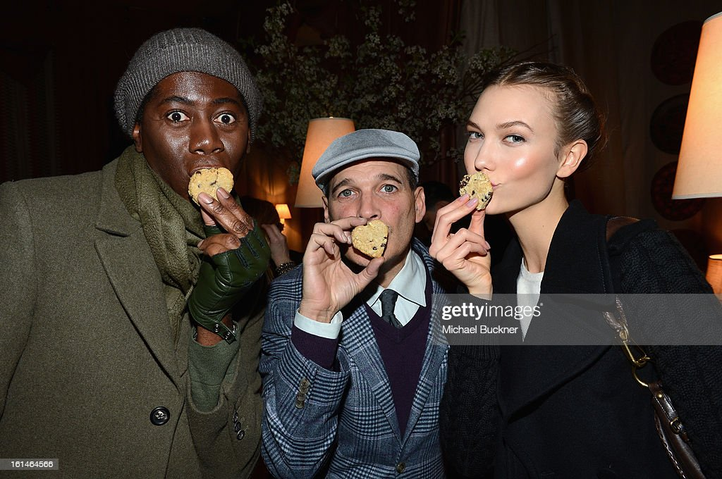 J. Alexander, Philip Bloch and Karlie Kloss attend the Mercedes-Benz Star Lounge during Mercedes-Benz Fashion Week Fall 2013 at Lincoln Center on February 11, 2013 in New York City.