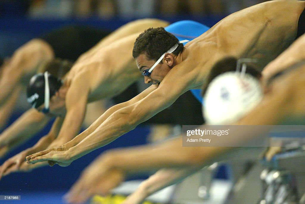 Alexander Popov of Russia in action during the Men's 100m Freestyle Semi Finals for the 10th Fina World Swimming Championships 2003 on July 23, 2003 at Palau Sant Jordi in Barcelona, Spain.
