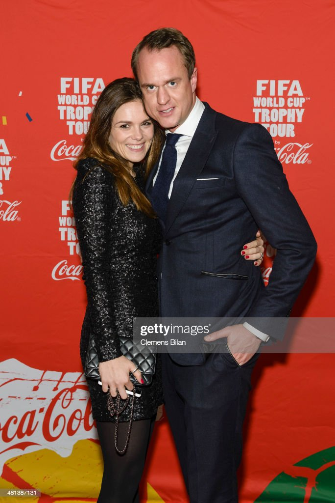 Alexander Posth und Angelina Huth attend the Gala Night of the FIFA World Cup Trophy Tour on March 29, 2014 in Berlin, Germany.