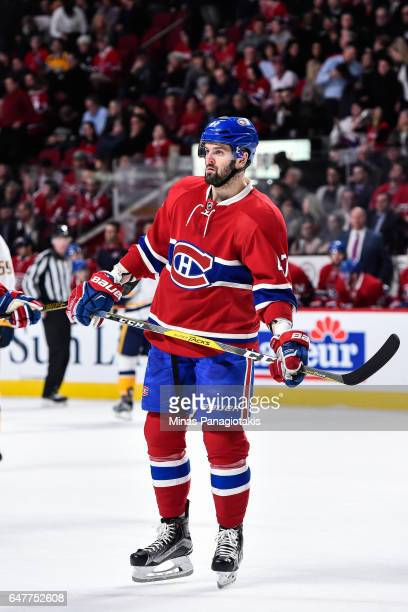 Alexander Radulov of the Montreal Canadiens looks on during the NHL game against the Nashville Predators at the Bell Centre on March 2 2017 in...