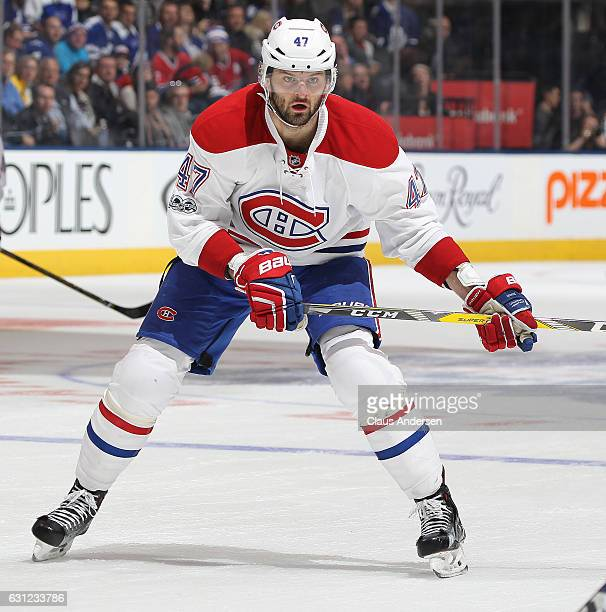 Alexander Radulov of the Montreal Canadiens skates against the Toronto Maple Leafs during an NHL game at the Air Canada Centre on January 7 2017 in...