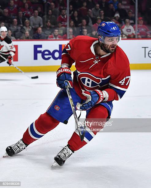 Alexander Radulov of the Montreal Canadiens skates against the New Jersey Devils in the NHL game at the Bell Centre on December 8 2016 in Montreal...