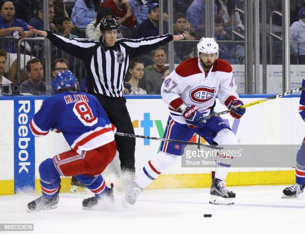 Alexander Radulov of the Montreal Canadiens skates against the New York Rangers in Game Three of the Eastern Conference First Round during the 2017...