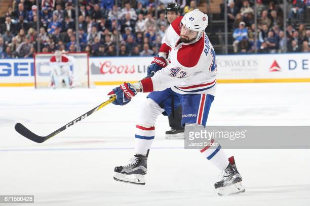 Alexander Radulov of the Montreal Canadiens skates against the New York Rangers in Game Four of the Eastern Conference First Round during the 2017...
