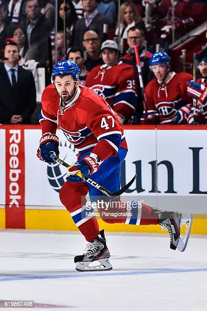Alexander Radulov of the Montreal Canadiens skates during the NHL game against the Toronto Maple Leafs at the Bell Centre on October 29 2016 in...
