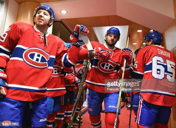 Alexander Radulov of the Montreal Canadiens walks to the ice before the game against the Winnipeg Jets in the NHL game at the Bell Centre on February...