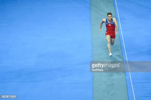 Alexander Renkert of USA competes during Men's Tumbling Final competition of The World Games 2017 at the National Forum of Music On Tuesday July 25...