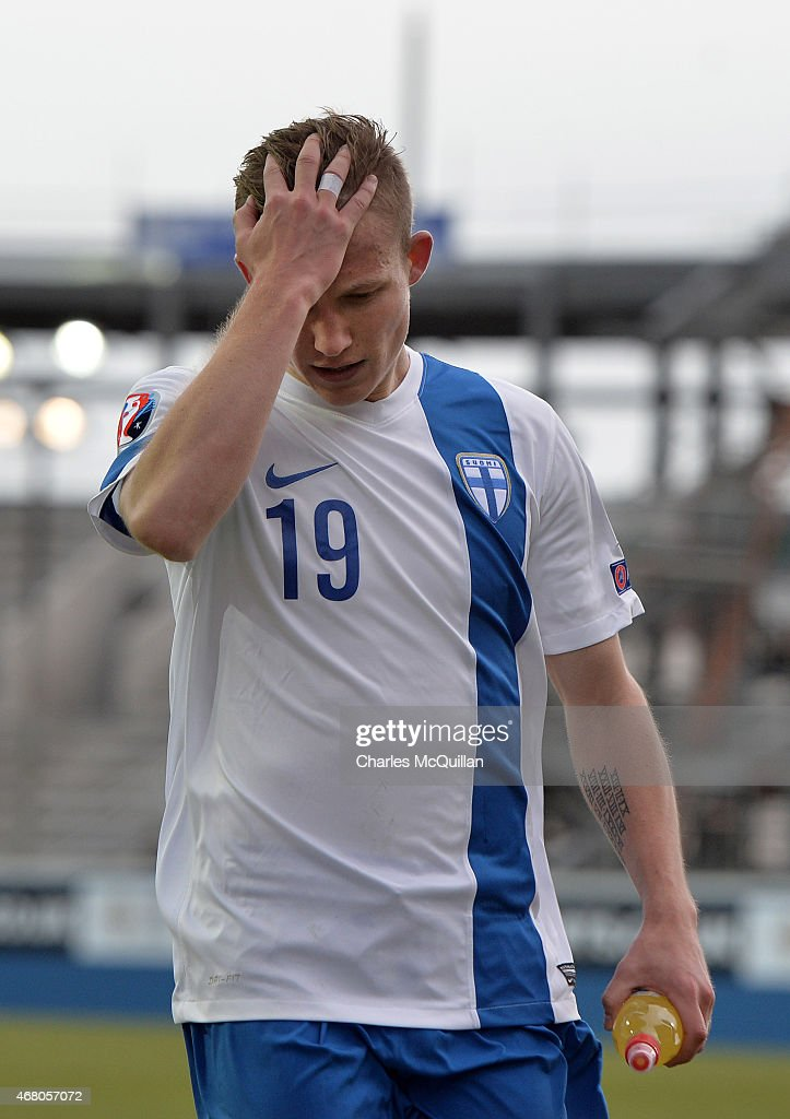 <a gi-track='captionPersonalityLinkClicked' href=/galleries/search?phrase=Alexander+Ring&family=editorial&specificpeople=5588968 ng-click='$event.stopPropagation()'>Alexander Ring</a> of Finland after the EURO 2016 Group F qualifier at Windsor Park on March 29, 2015 in Belfast, Northern Ireland.