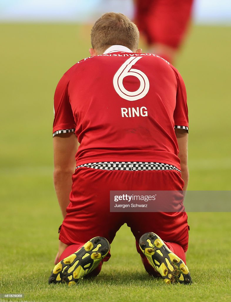 <a gi-track='captionPersonalityLinkClicked' href=/galleries/search?phrase=Alexander+Ring&family=editorial&specificpeople=5588968 ng-click='$event.stopPropagation()'>Alexander Ring</a> of Kaiserslautern knees on the pitch during the 2nd Bundesliga match between MSV Duisburg and 1. FC Kaiserslautern at Schauinsland-Reisen-Arena on July 24, 2015 in Duisburg, Germany.