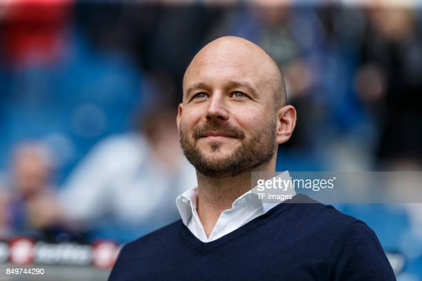 Alexander Rosen of Hoffenheim looks on during the Bundesliga match between TSG 1899 Hoffenheim and Hertha BSC at Wirsol RheinNeckarArena on September...