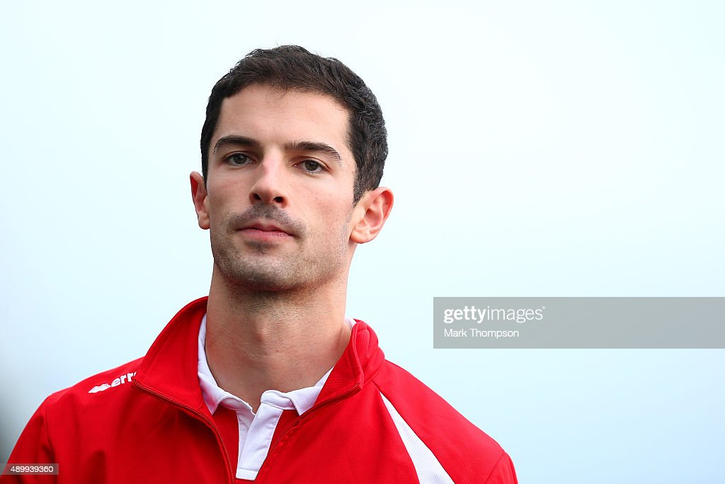 <a gi-track='captionPersonalityLinkClicked' href=/galleries/search?phrase=Alexander+Rossi&family=editorial&specificpeople=6547871 ng-click='$event.stopPropagation()'>Alexander Rossi</a> of the United States and Manor Marussia walks in the paddock during practice for the Formula One Grand Prix of Japan at Suzuka Circuit on September 25, 2015 in Suzuka.