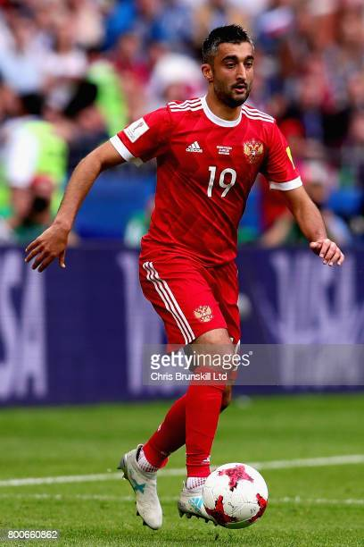 Alexander Samedov of Russia in action during the FIFA Confederations Cup Russia 2017 Group A match between Mexico and Russia at Kazan Arena on June...