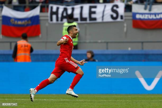 Alexander Samedov of Russia national team celebrates his goal during the Group A FIFA Confederations Cup Russia 2017 match between Russia and Mexico...