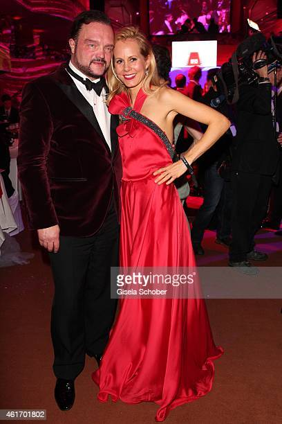 Alexander SchaumburgLippe and his wife Nadja SchaumburgLippe during the German Filmball 2015 at Hotel Bayerischer Hof on January 17 2015 in Munich...