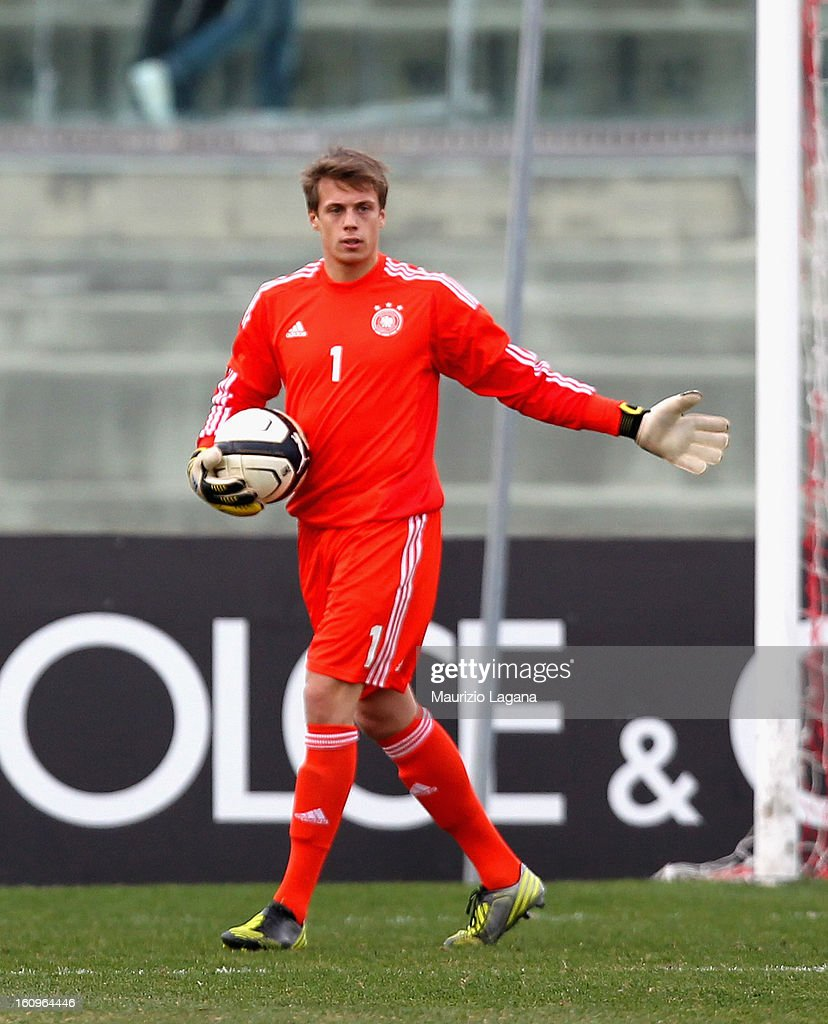 Alexander Schwolow of Germany during U20 International Friendly match between Italy and Germany at Stadio Cosimo Puttilli on February 6, 2013 in Barletta, Italy.