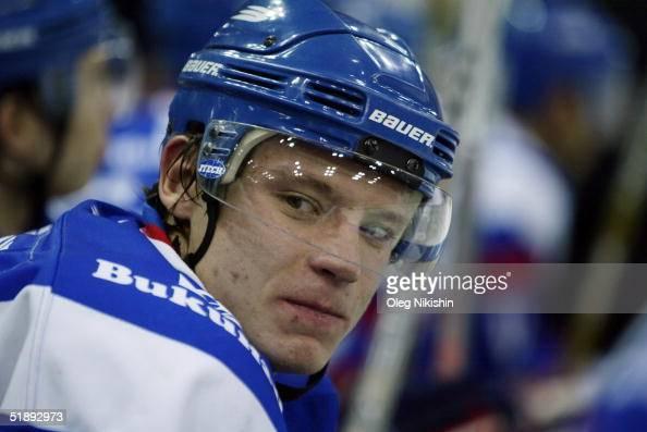 Alexander Semin of Lada Togliatti player during a game against Dynamo Moscow December 24 2004 at Luzhniki Ice Arena in Moscow Russia Lada Togliatti...