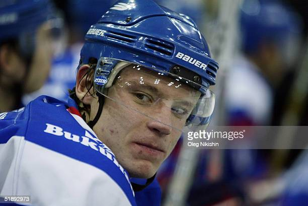 Alexander Semin of Lada Togliatti player during a game against Dynamo Moscow December 24 2004 at Luzhniki Ice Arena in Moscow Russia Lada Togliatti...