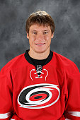 Alexander Semin of the Carolina Hurricanes poses for his official headshot for the 20142015 season at Carolina Family Practice on September 18 2014...