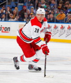 Alexander Semin of the Carolina Hurricanes skates against the Buffalo Sabres on January 23 2014 at the First Niagara Center in Buffalo New York
