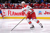Alexander Semin of the Carolina Hurricanes skates during the NHL game against the Montreal Canadiens at the Bell Centre on March 19 2015 in Montreal...