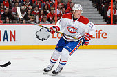 Alexander Semin of the Montreal Canadiens skates during the NHL game against the Ottawa Senators at Canadian Tire Centre on October 11 2015 in Ottawa...