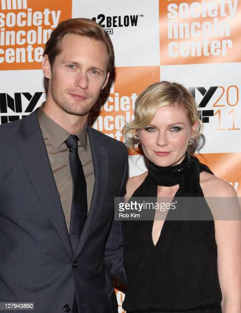 Alexander Skarsgaard and Kirsten Dunst attend the premiere of 'Melancholia' during the 49th annual New York Film Festival at Alice Tully Hall Lincoln...