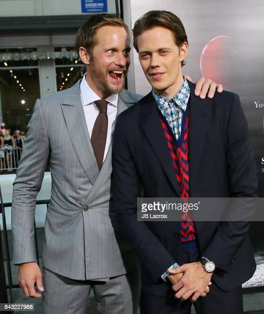 Alexander Skarsgard and Bill Skarsgard attend the premiere of Warner Bros Pictures and New Line Cinema's 'It' on September 5 2017 in Los Angeles...