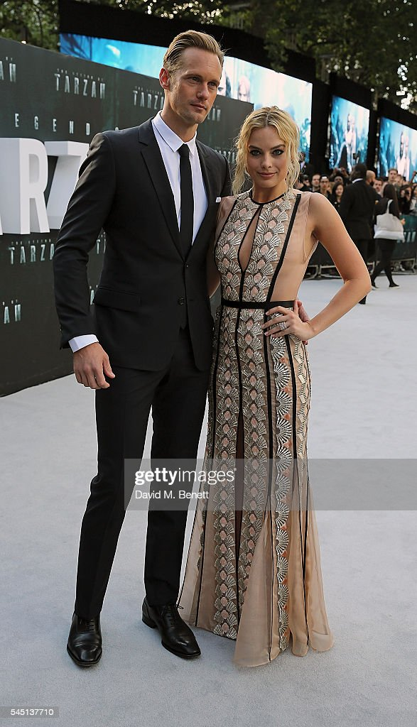 Alexander Skarsgard and Margot Robbie attend the European Premiere of 'The Legend Of Tarzan' at Odeon Leicester Square on July 5 2016 in London...