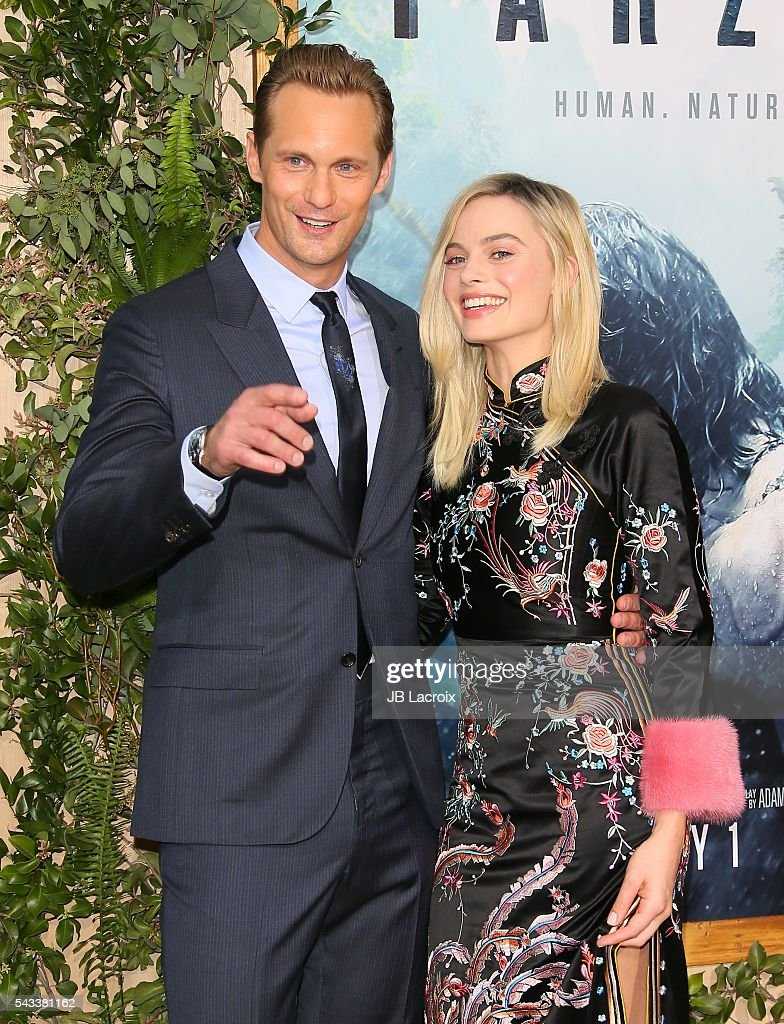 Alexander Skarsgard and <a gi-track='captionPersonalityLinkClicked' href=/galleries/search?phrase=Margot+Robbie&family=editorial&specificpeople=5781742 ng-click='$event.stopPropagation()'>Margot Robbie</a> attend the premiere of Warner Bros. Pictures' 'The Legend of Tarzan' on June 27, 2016 in Hollywood, California.