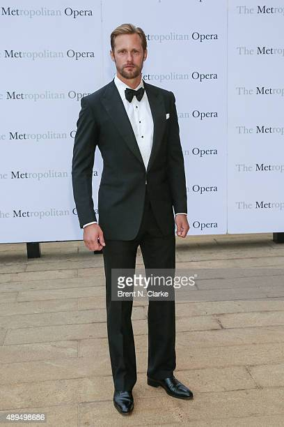 Alexander Skarsgard arrives for the Metropolitan Opera's 20152016 season opening night performance of 'Otello' held at The Metropolitan Opera House...
