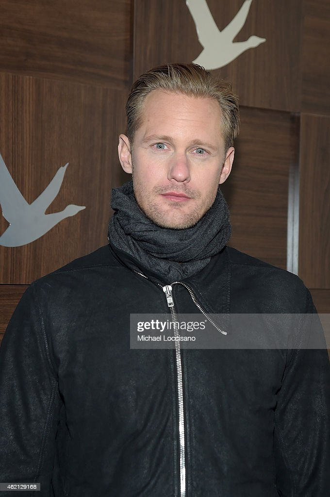 Alexander Skarsgard at The Diary of a Teenage Girl Cast Party at the GREY GOOSE Blue Door during Sundance on January 24 2015 in Park City Utah