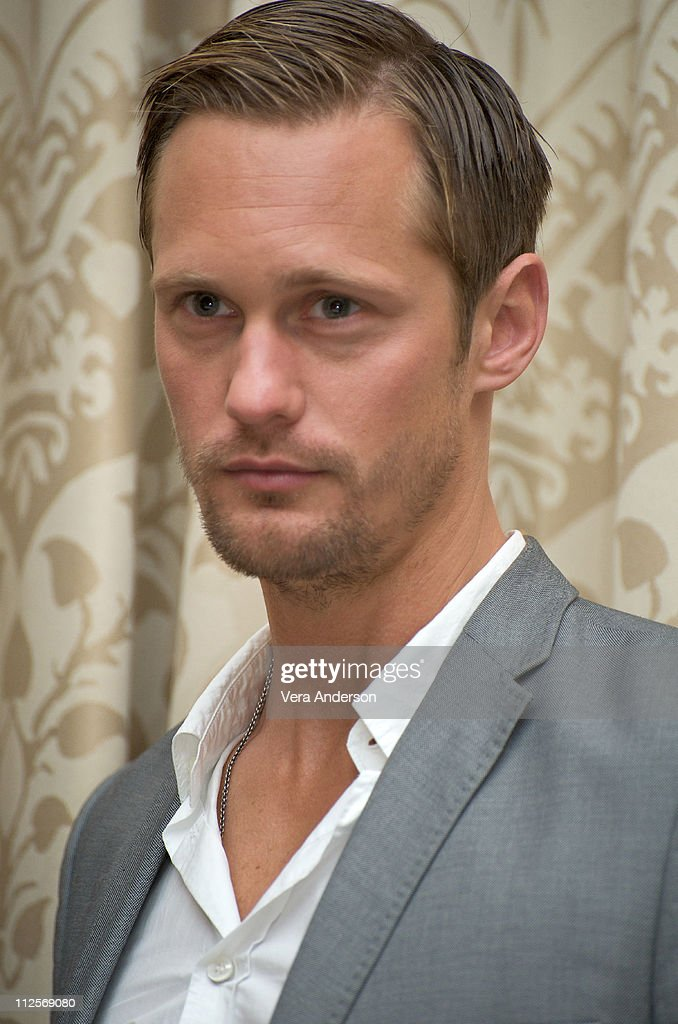 Alexander Skarsgard at the 'True Blood' press conference at the Four Seasons Hotel on July 22, 2009 in Beverly Hills, California.