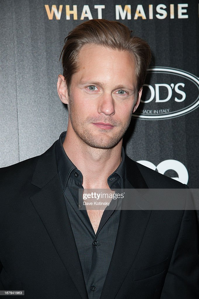 Alexander Skarsgard attends a screening hosted by The Cinema Society With Tod's & GQ of Millennium Entertainment's 'What Maisie Knew' presented by The Cinema Society at Sunshine Landmark on May 2, 2013 in New York City.