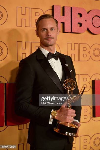 Alexander Skarsgard attends HBO's Post Emmy Awards Reception at The Plaza at the Pacific Design Center on September 17 2017 in Los Angeles California