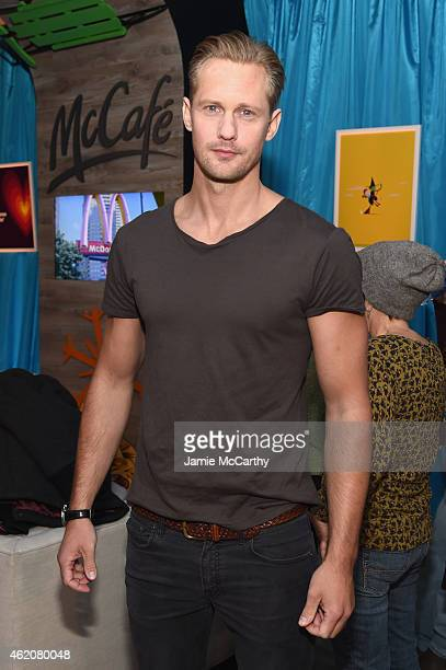 Alexander Skarsgard attends McDonald's McCafe Presents The Village at The Lift 2015 on January 23 2015 in Park City Utah