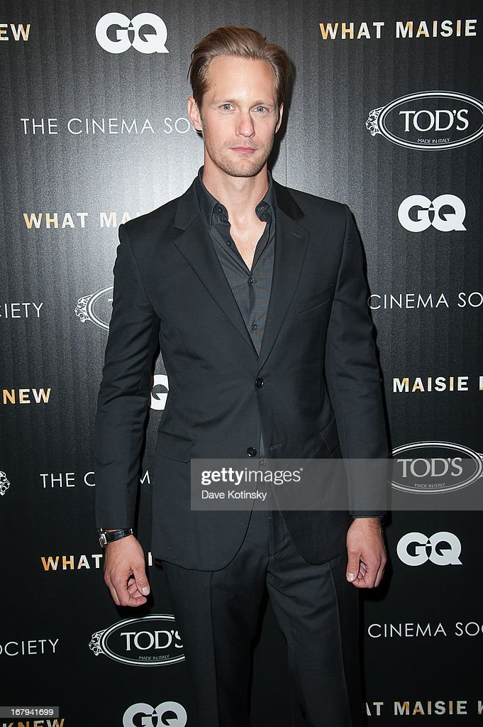 Alexander Skarsgard attends the a screening hosted by The Cinema Society With Tod's & GQ of Millennium Entertainment's 'What Maisie Knew' presented by The Cinema Society at Sunshine Landmark on May 2, 2013 in New York City.