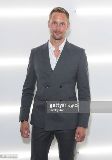 Alexander Skarsgard attends the BOSS show during NYFW Men's July 2017 at Fulton Market Building on July 11 2017 in New York City