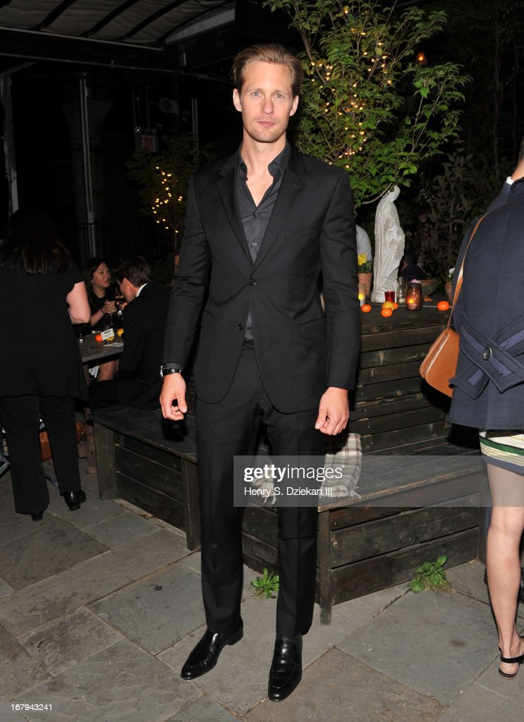 Alexander Skarsgard attends The Cinema Society With Tod's & GQ screening of Millennium Entertainment's 'What Maisie Knew' after party at Gallow Green at the McKittrick Hotel on May 2, 2013 in New York City.