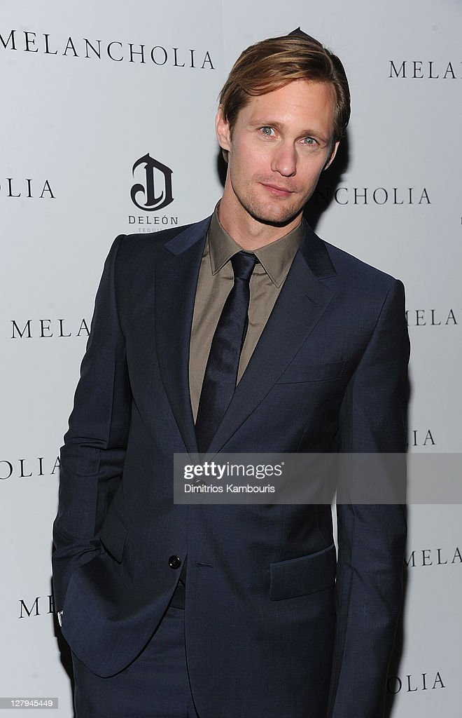 Alexander Skarsgard attends the 'Melancholia' premiere after party during the 49th annual New York Film Festival at the Stone Rose Lounge on October...