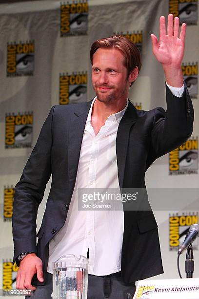Alexander Skarsgard attends the 'True Blood' panel at 2011 ComicCon International Day 2 at San Diego Convention Center on July 22 2011 in San Diego...