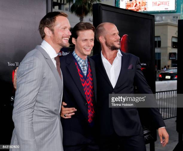 Alexander Skarsgard Bill Skarsgard and Gustaf Skarsgard attend the premiere of 'It' at TCL Chinese Theatre on September 5 2017 in Hollywood California